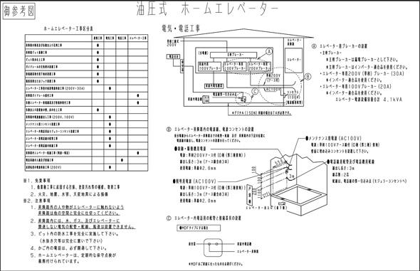 エレベーター図面