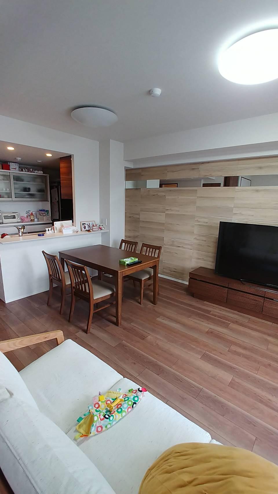 キッチン・リビングスペース 全体
